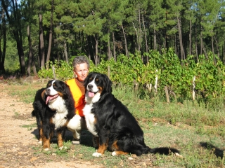 Mimosa et sa mère en visite en Ardèche